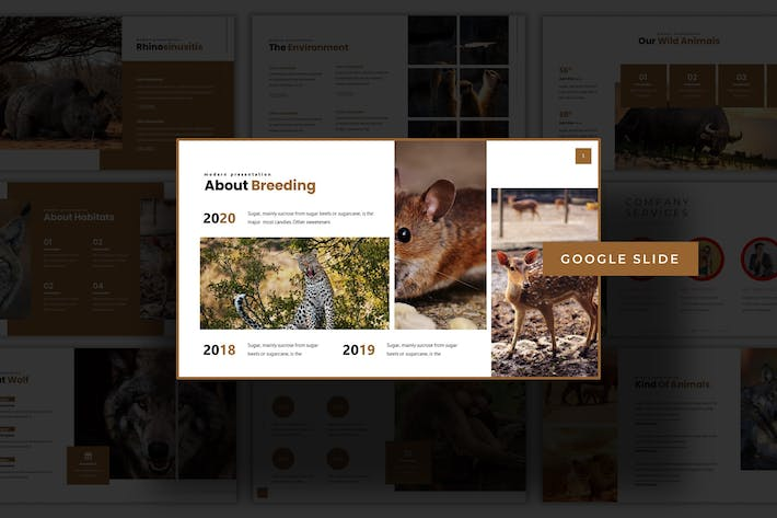 Thumbnail for Animals - Google Slide Template