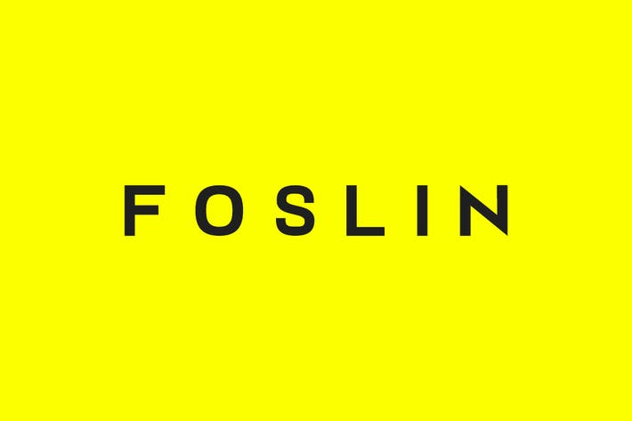 Thumbnail for FOSLIN - Minimal Sans-Serif / Display Typeface