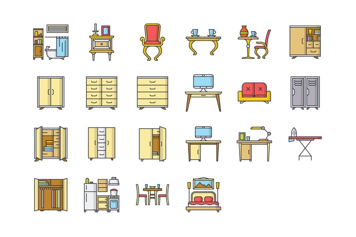 Thumbnail for 22 Furniture Icons