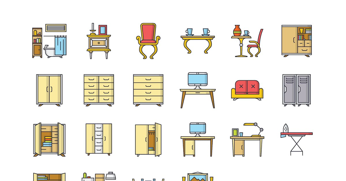 Download 22 Furniture Icons by polshindanil