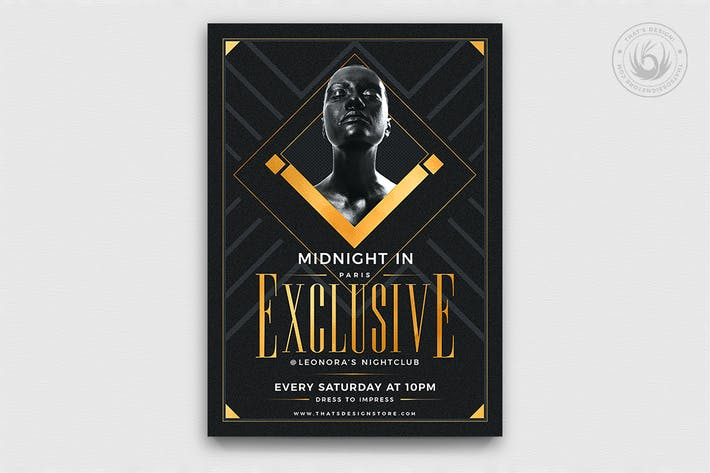 Thumbnail for Exclusive Party Flyer Template