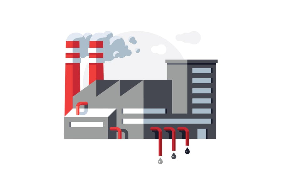 Fabrikillustration