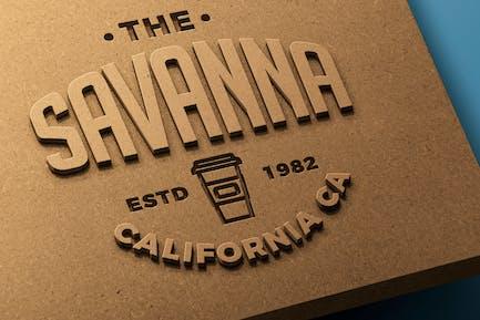 Wood Engraving Logo Mockup