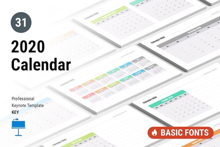 Thumbnail for Calendar 2020 for Keynote