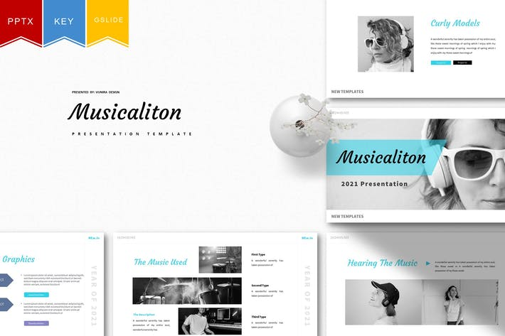 Musicaliton | Powerpoint, Keynote, Google Слайды