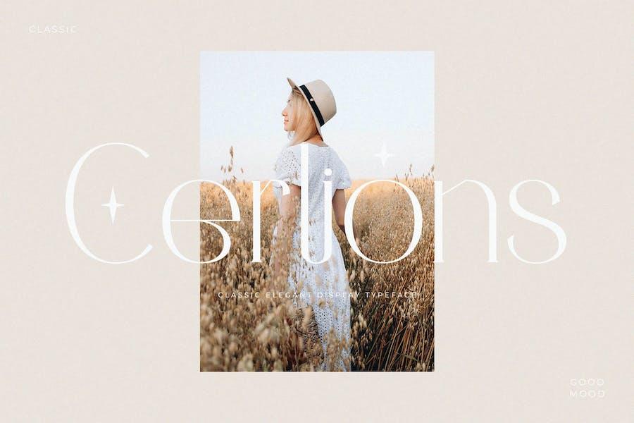 Cerlions - Elegant Display Serif