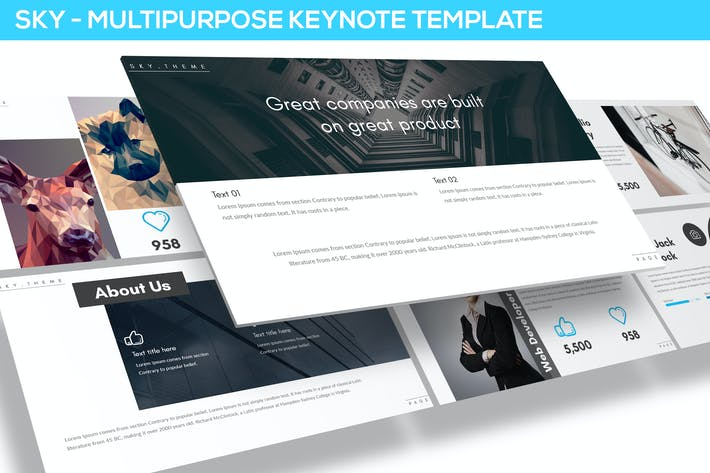 Sky - Multipurpose Keynote Template