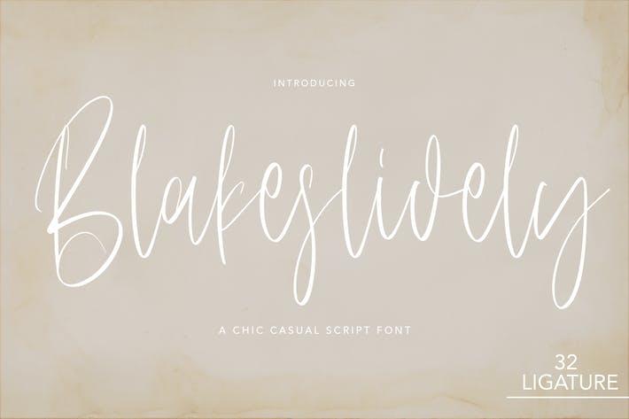 Blakslidely - Fuente de escritura Chic Sasual
