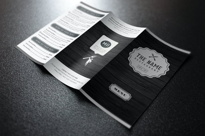 Thumbnail for Elegant Food Menu 7 Illustrator Template