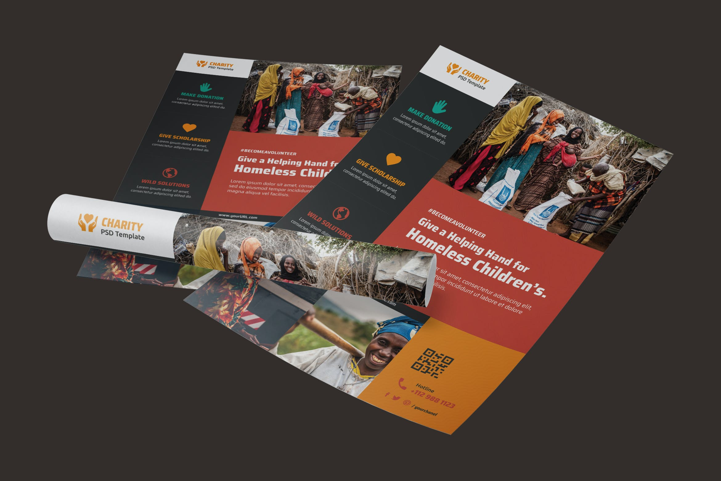 NGO, Charity,Fundraising Poster by DCMEStudio on Envato Elements Pertaining To Ngo Brochure Templates