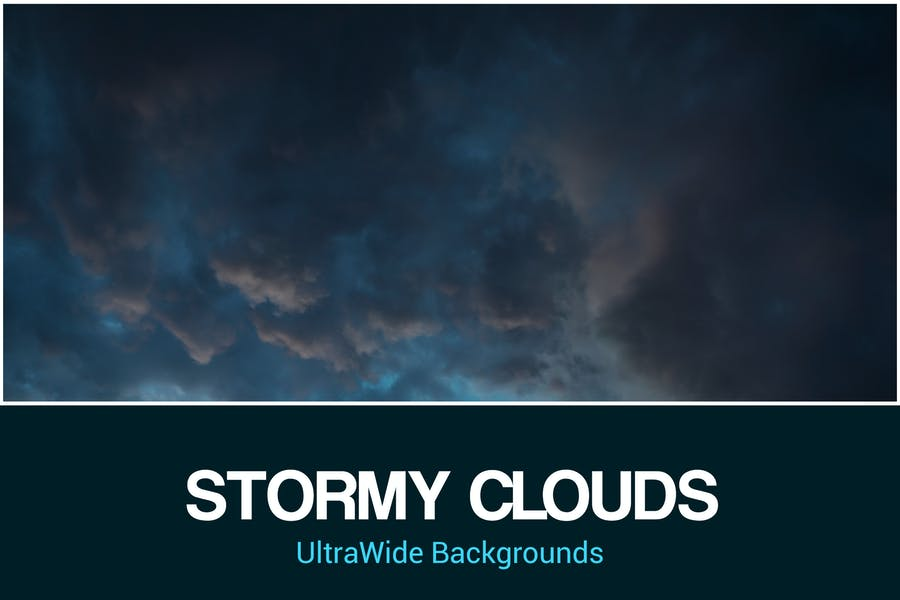 UltraWide Stormy Clouds Backgrounds