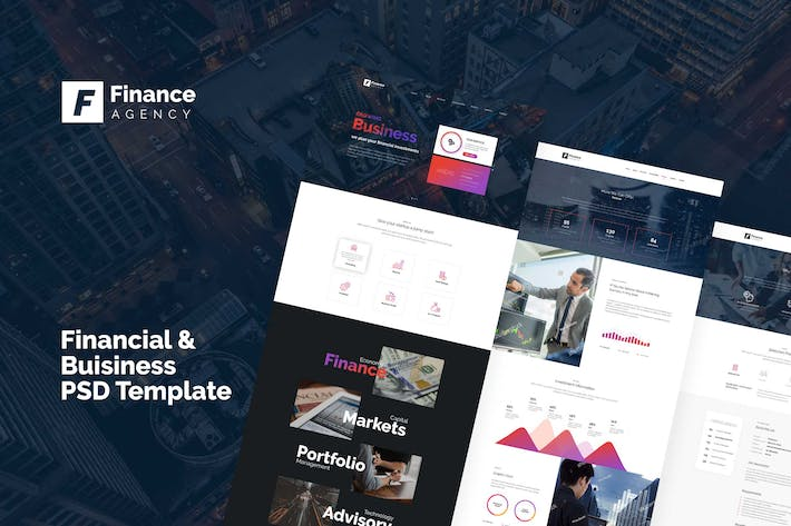 Thumbnail for FinAg - Creative & Finance Agency PSD Template