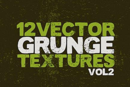Vector Grunge Textures x12 Vol2