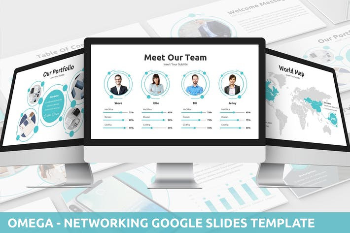 Thumbnail for Omega - Networking Google Slides Template