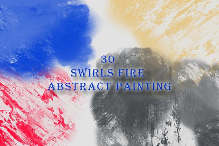 Thumbnail for 30 Swirls Fire Abstract Painting Brushes