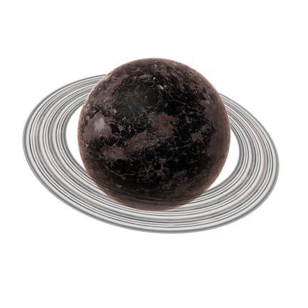 Fictional Dark Planet with Ring