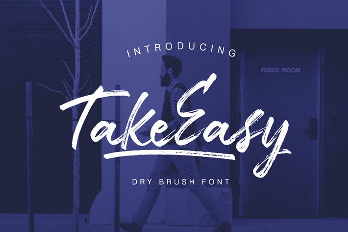 Thumbnail for TakeEasy Brush Font