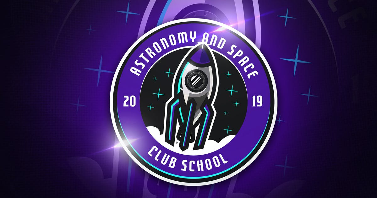 Astronomy Club - Mascot & Esport Logo by aqrstudio