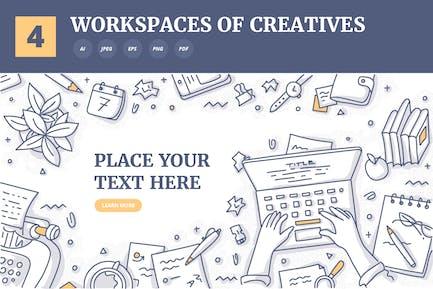4 Hintergrundkonzepte kreativer Arbeitsplätze