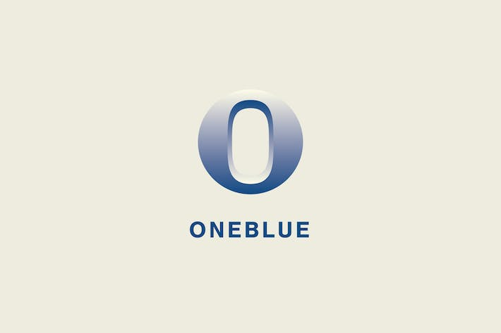 Cover Image For One Blue Logo Template