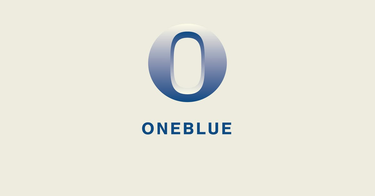 Download One Blue Logo Template by Pixasquare