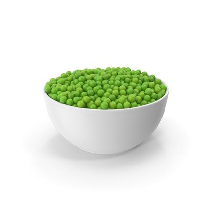 Ceramic Bowl With Green Peas