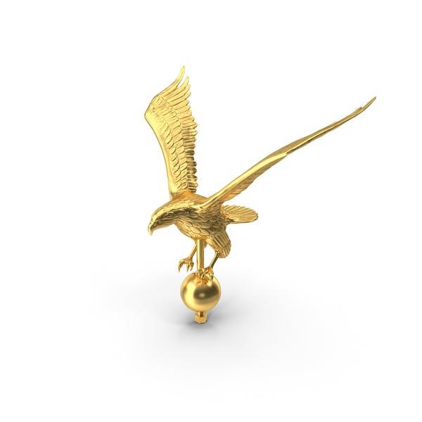 Gold Eagle Flagpole Topper