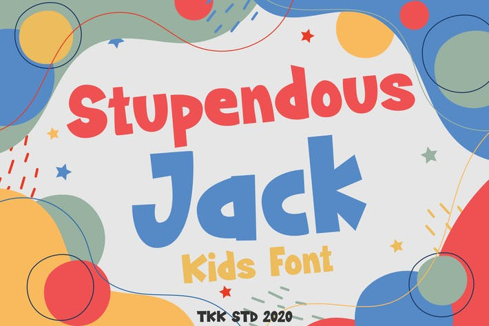 Thumbnail for Stupendous Jack - Kids Font