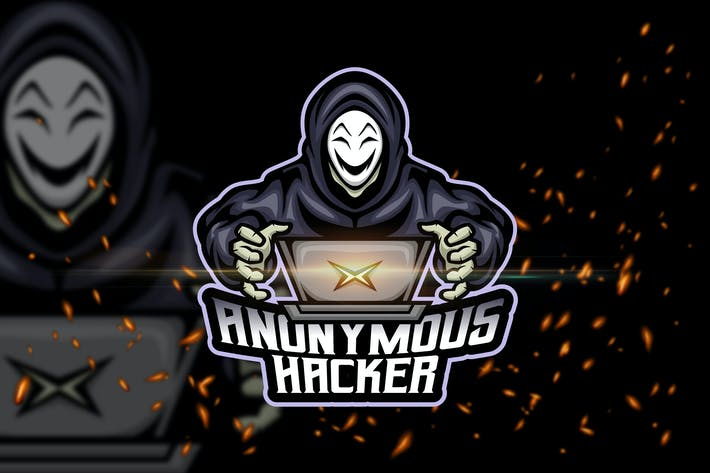 Thumbnail for Anonymous Hacker - Esport & Mascot Logo Template