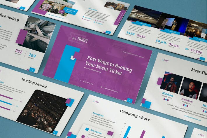 Thumbnail for NextTicket - Creative Powerpoint Template