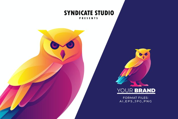 Owl Gradient Logo