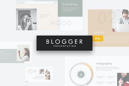 Blogger - Simple Google Slides Template