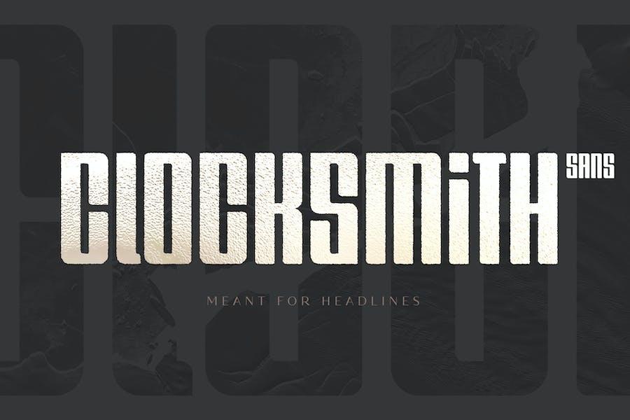 Clocksmith - Display Font
