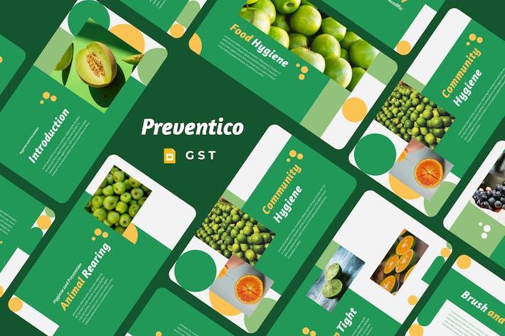 PREVENTICO - Hygiene and Prevention Google Slides
