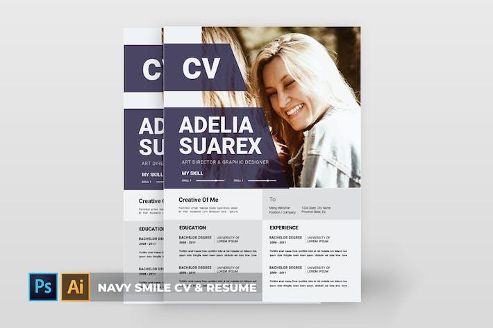 Thumbnail for Navy Smile | CV & Resume