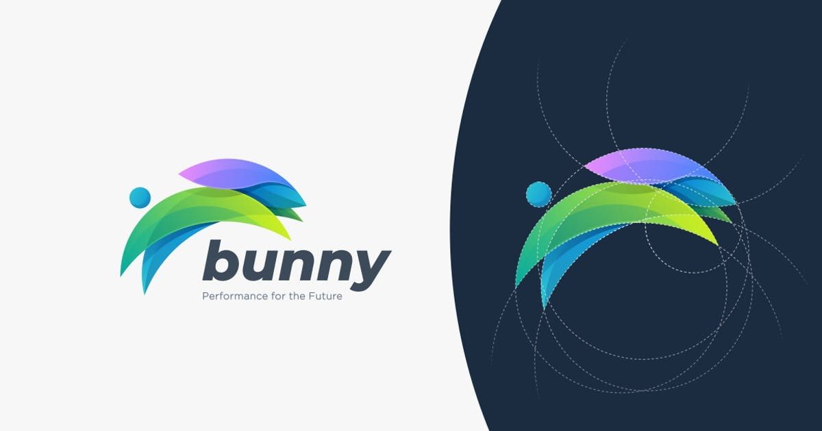 Download Bunny Colorful Grid Logo Template by ivan_artnivora