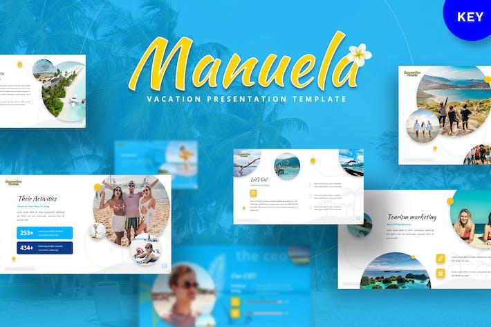 Мануэла - Шаблон Keynote для отпуска