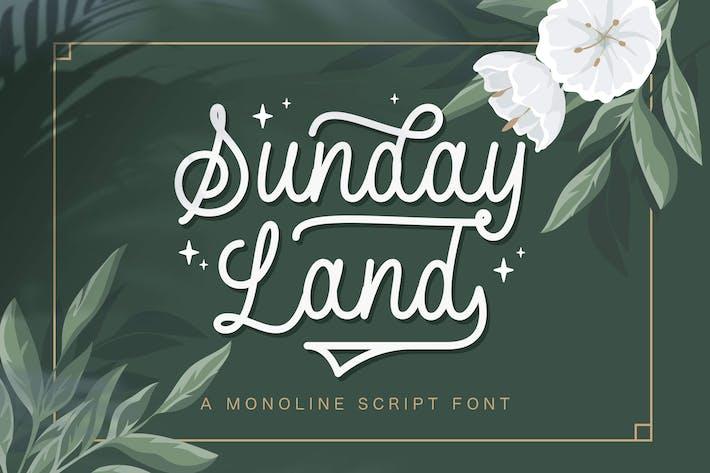 Sunday Land - Monoline Script Police
