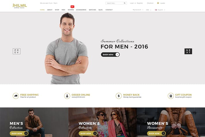 Thumbnail for Jhilmil - eCommerce PSD Template