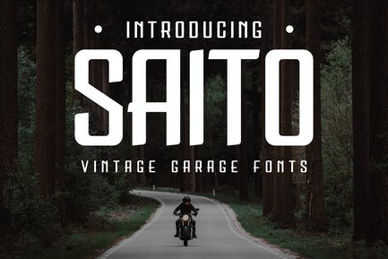 Saito - Vintage Garage Fonts