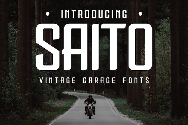 Saito - Vintage Garage Fonts - product preview 0