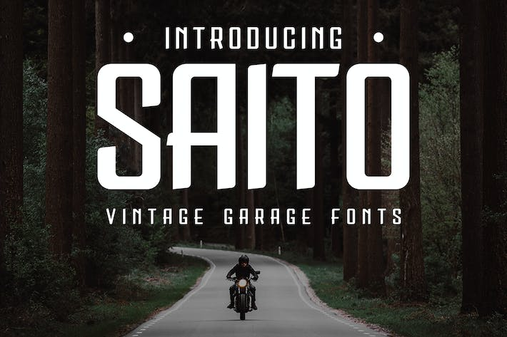 Thumbnail for Saito - Vintage Garage Fonts