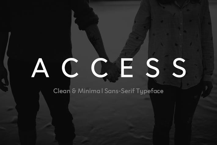 Thumbnail for ACCESS - Modern Sans Serif Typeface + Web Fonts