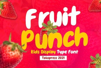 Fruit Punch - Kids Font