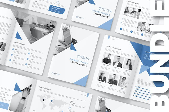 Thumbnail for Digital Agency – Company Profile Bundle 3 in 1