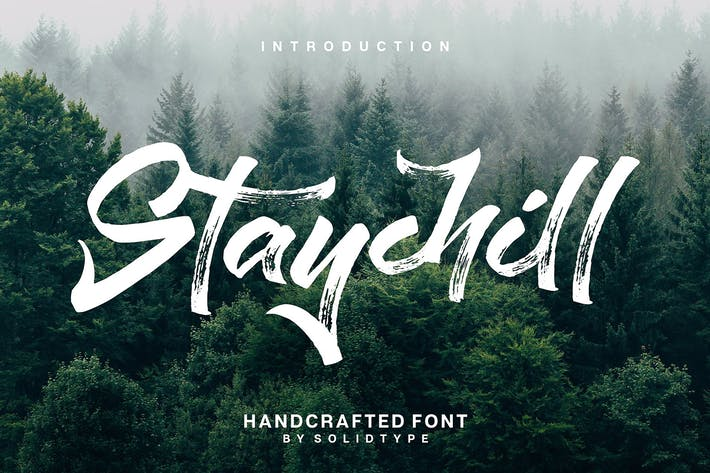 Thumbnail for Staychill Brush Font