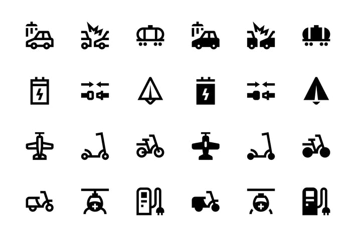 Thumbnail for 34 Transport icons