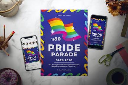 Pride Parade Flyer Set