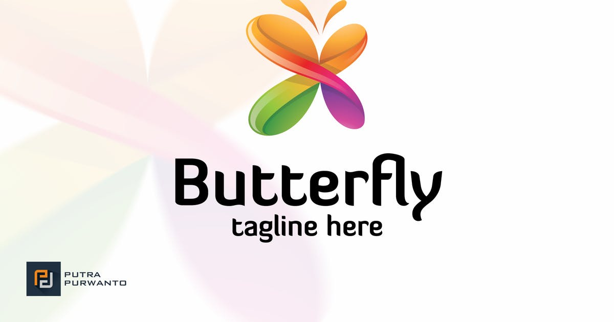 Butterfly - Logo Template by putra_purwanto