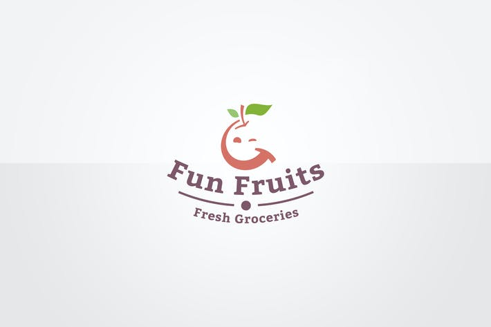 Thumbnail for Fun Fruits Logo Template